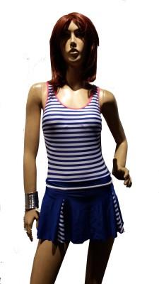 Kunchals Single Swimwear With Frock Style Striped Women,s