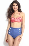 Luste fashion Polka Print Girls Swimsuit
