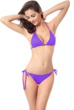 JKFs Triangle Cup Bikini Solid Women's S...