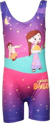 Chhota Bheem Swimwear Graphic Print Girls Swimsuit