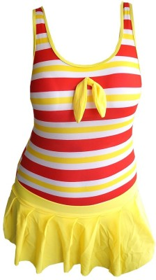 Muren One Piece Swim Suit Swimming Costume Self Design Girls