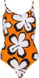 Jellyboy Orange Swimsuit Floral Print Wo...