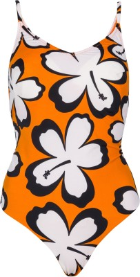Jellyboy Orange Swimsuit Floral Print Women,s