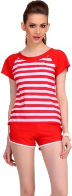 Clovia Striped Women,s