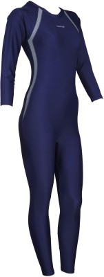 Freestyle Full Bodysuit With Sleeves Solid Women,s