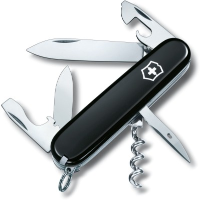 Victorinox 1.3603.3 - Spartan Black 12 Function Multi Utility Swiss Knife
