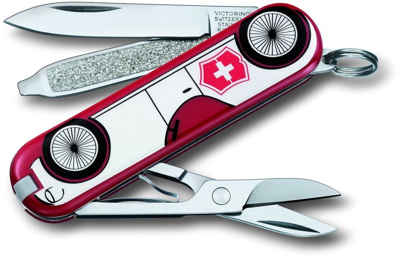Victorinox 0.6223.L1410B Classic Car 7 Function Multi Utility Swiss Knife(Red)