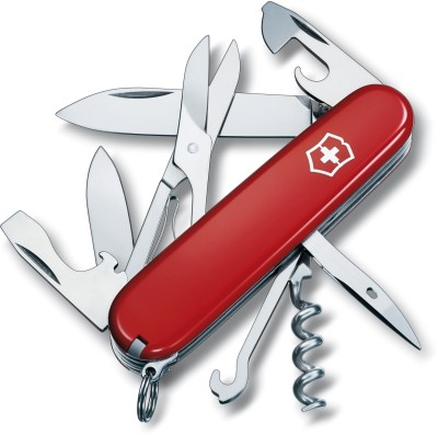Victorinox 1.3703 - Climber Red 14 Function Multi Utility Swiss Knife