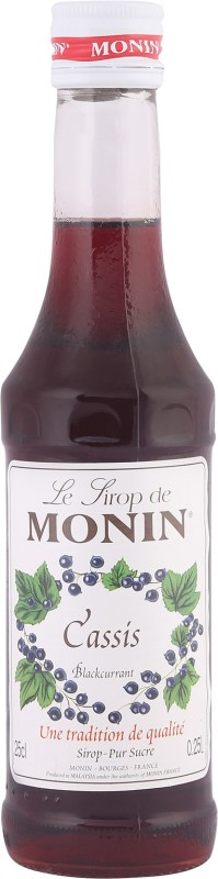 Monin Le Lirop De Casis Blackcurrant(250 ml, Pack of 1)