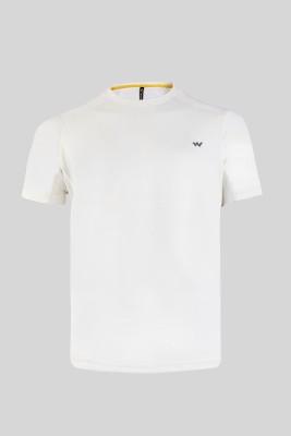 Wildcraft Solid Men's Round Neck White T-Shirt