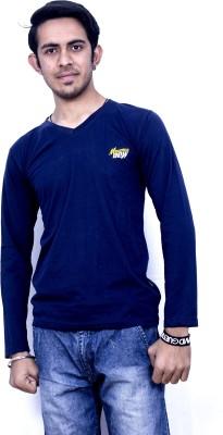Khaiber Solid Boy's V-neck T-Shirt