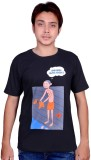 Swadesistuff Printed Men's Round Neck Bl...