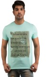 Snoby Printed Men's Round Neck Blue T-Sh...