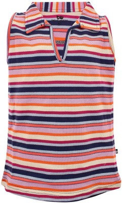 Bells and Whistles Striped Girl's Polo Multicolor T-Shirt
