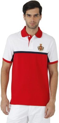 Fahrenheit Solid Men's Polo Neck Red, White T-Shirt
