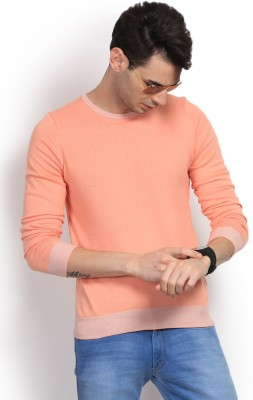 GAS Solid Men's Round Neck Orange T-Shirt