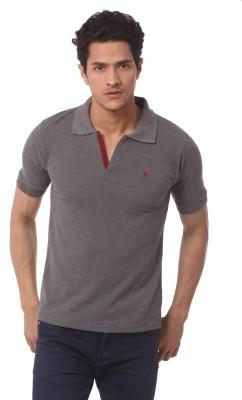 Saadgi Solid Men's Polo Neck T-Shirt