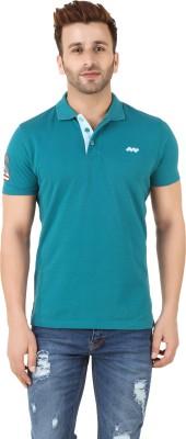 Spunk Solid Men's Polo Green T-Shirt