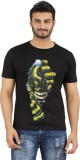 MA Printed Men's Round Neck Black T-Shir...
