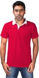 Chakravarthi Solid Men's Polo Neck Red T...
