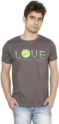 Funatic Sports Printed Men's Round Neck Grey T-Shirt