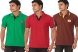 Rampwaq Solid Men's Polo Neck Multicolor...