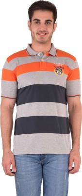 Kingswood Striped Men's Polo Orange T-Shirt