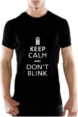 13th Avenue Graphic Print Men's Round Neck Black T-Shirt