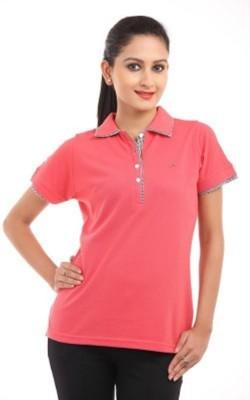 Designerkarts Solid Girl's Polo Neck T-Shirt
