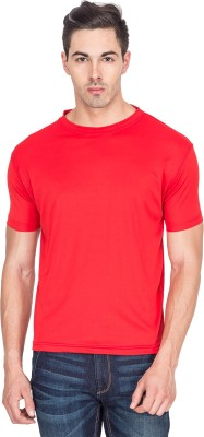 Sulpher Solid Men's Round Neck Red T-Shirt