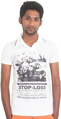 Shoppyzip Printed Men's Polo Neck Multicolor T-Shirt