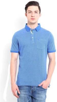 Blackberrys Printed Men's Polo Blue T-Shirt