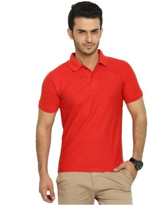 DG Solid Men's Polo Red T-Shirt