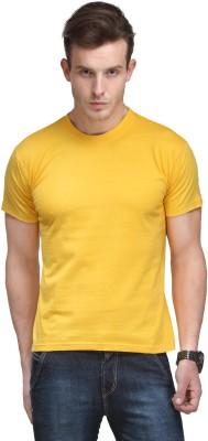 Scott International Solid Men's Round Neck Yellow T-Shirt
