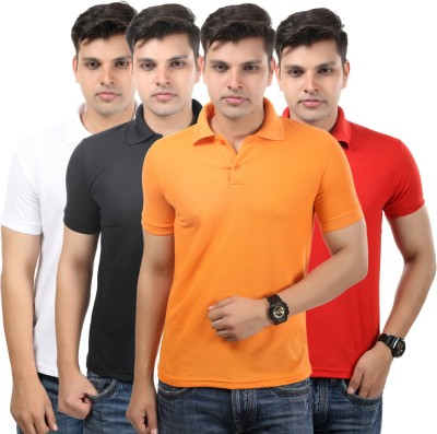 Etoffe Solid Men's Polo Neck T-Shirt