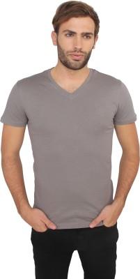 Calvin Klein Solid Men's V-neck Grey T-Shirt