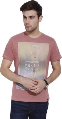 Slub By INMARK Graphic Print Men's Round Neck Pink T-Shirt