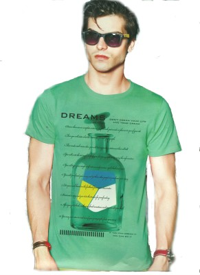 Victor & Rolf Graphic Print Men's Round Neck Green T-Shirt