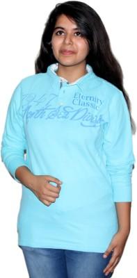 Mask Lifestyle Printed Women's Polo Light Blue T-Shirt