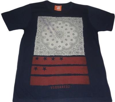 Rayon Printed Men's Round Neck T-Shirt