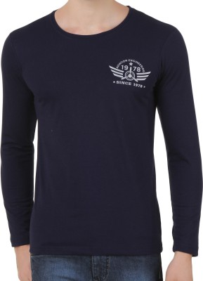 Konners Printed Men's Round Neck Dark Blue T-Shirt