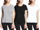 Neo Garments Solid Women's Round Neck Bl...