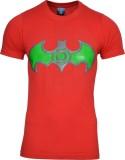 SnowFox Printed Men's Round Neck Red T-S...