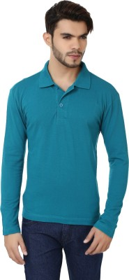 Bajo Solid Men's Fashion Neck Blue T-Shirt