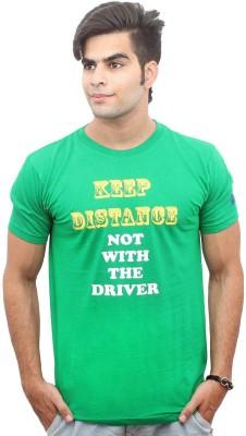 Jazzmyride Graphic Print Men's Round Neck Green T-Shirt