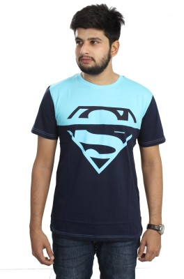 The Dry State Graphic Print Men,s Round Neck Blue T-Shirt
