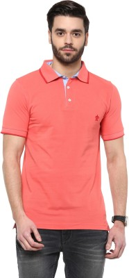 Turtle Solid Men's Polo Neck Red T-Shirt