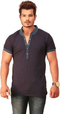 Feed Up Solid Men's Henley T-Shirt