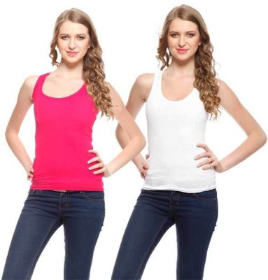 Exhort Fashion Solid Women's Round Neck Multicolor T-Shirt