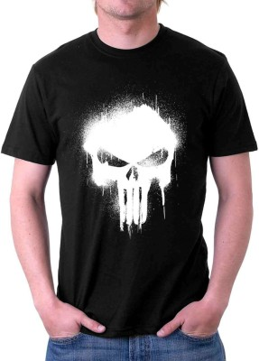The Souled Store. Graphic Print Men's Round Neck Black T-Shirt